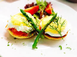 Norwegian egg benedict