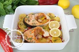 Balık Yemeklerinden Fırında Somon