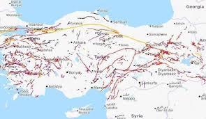 Deprem Gerçeği ve Deprem Sigortası için Fay Hatları Haritası.