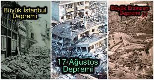 Deprem ve Büyük Yıkımlara Neden Olan Yerleşimler.