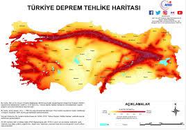 Deprem Gerçeği ve Fay Hatları Haritası.