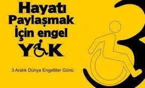 Dünya engelliler günü fotoğrafı