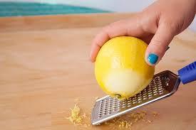 Rendelenmiş Limon kabuğu