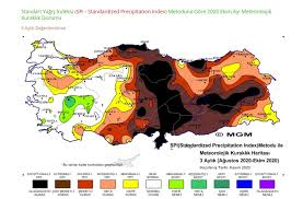 MGM Türkiye Kuraklık haritası son durum