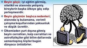 Türkiye'nin Beyin Göçü Sorunu