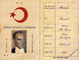 Atatürk soy ağacı ve nüfus cüzdanı