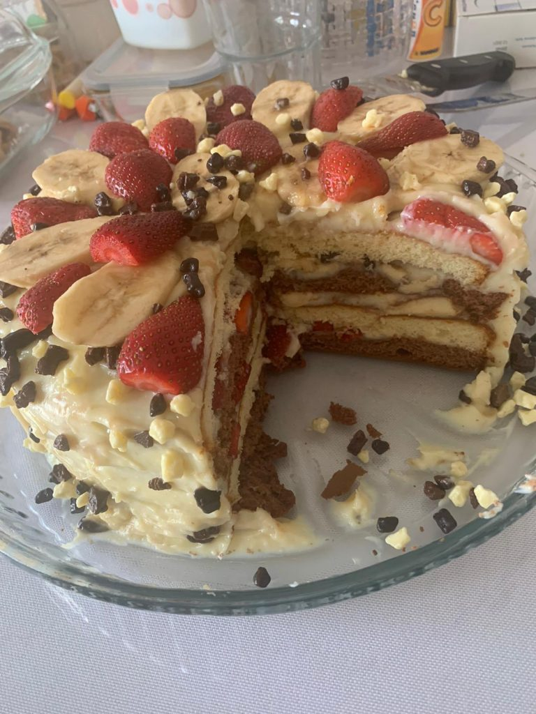 Evde pandispanyalı kek