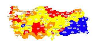 İllere göre Covit19 risk haritası 02.03.2021