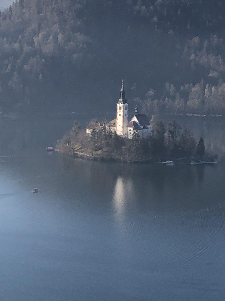 Bled Kalesinden Göl ve Kilise