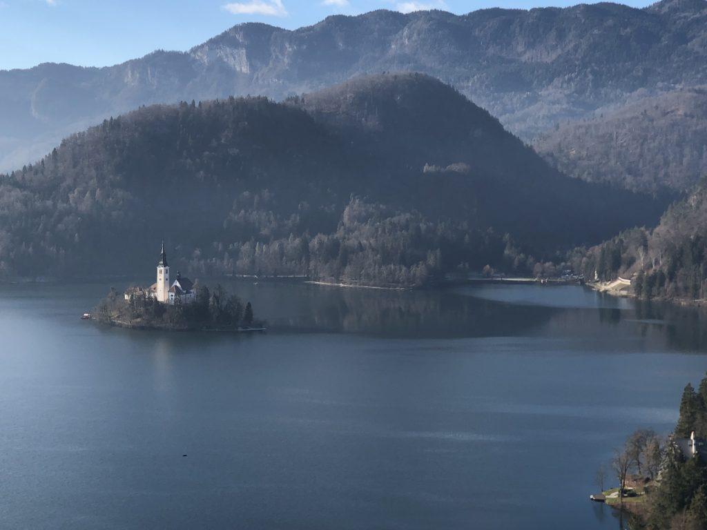 Slovenya ve Bled Gölü