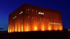 Troya müzesi gece görüntüsü
