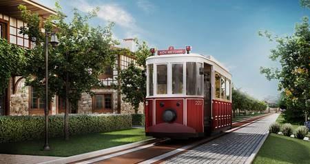 Sağlıklı yaşam köyünde Tramvay