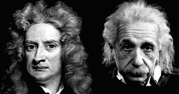 Isaac Newton – Albert Einstein