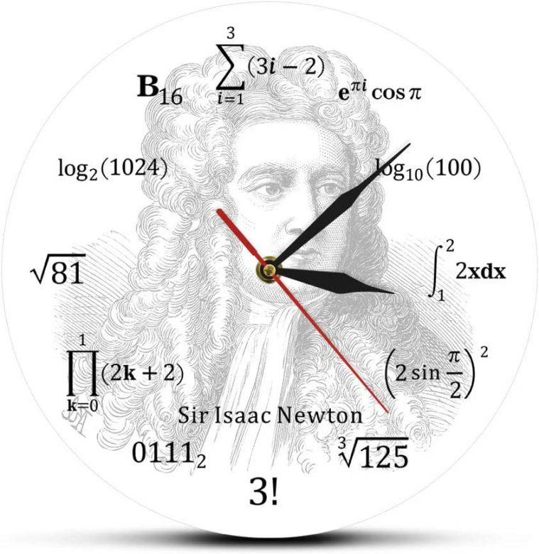 Ve Newton - Matematik Denklem Duvar Saati